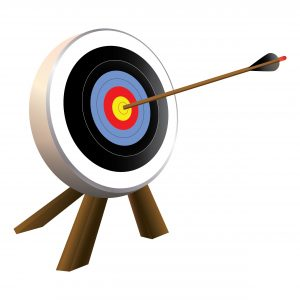 A target showing an arrow right in the middle - targeting the super-niche