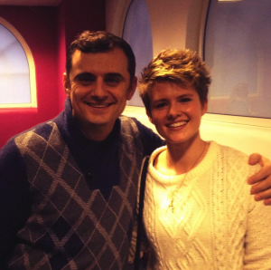Social media interaction. Jodie Cook (née Cole) and Gary Vaynerchuk