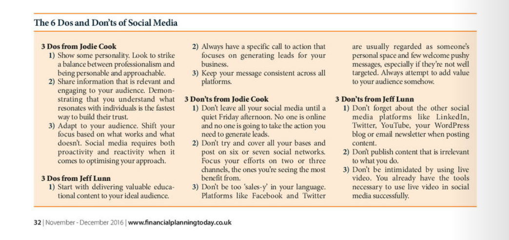 Social media for financial planners 2