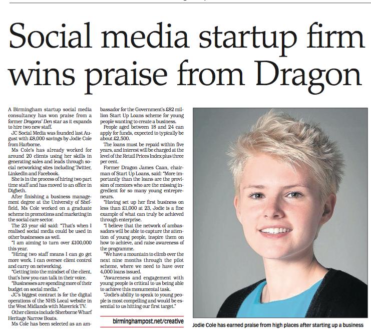 JC Social Media in the Birmingham Post