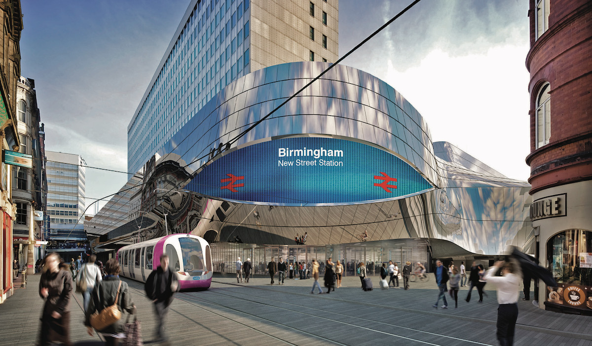 Birmingham's New Street Station, the hub of the city gaining 5G