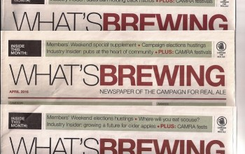 David in 'What's Brewing', official newspaper of the Campaign for Real Ale