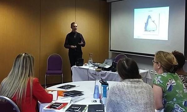 Social media expert, David, presenting a social media masterclass