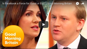 Good Morning Britain debate about Facebook and Cambridge Analytica
