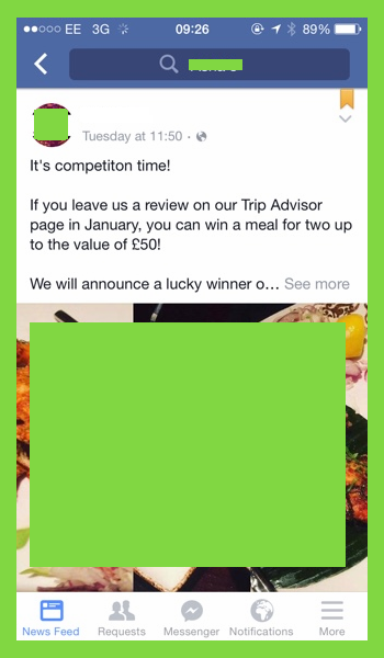 Facebook TripAdvisor competition