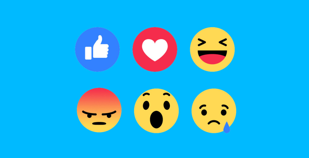 Facebook reactions button - relief for brands