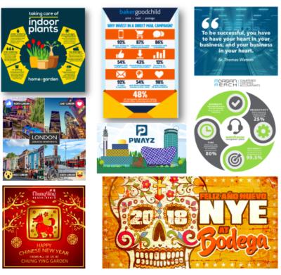 Graphic design for social media