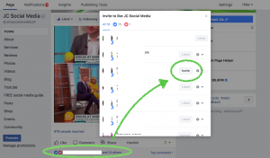 How to invite post likers to your Facebook page