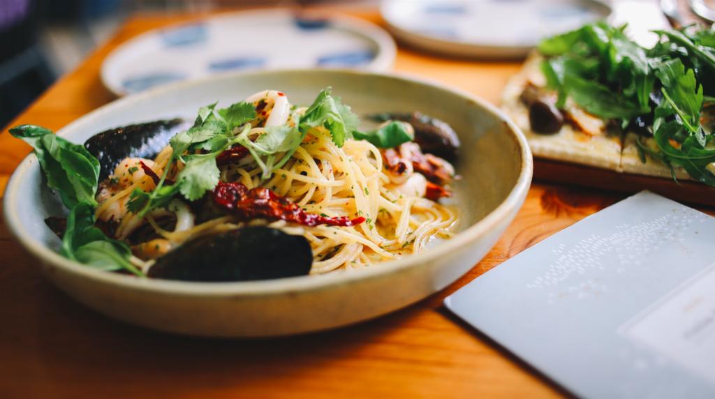 A pasta dish. Social media marketing for Italian restaurants.