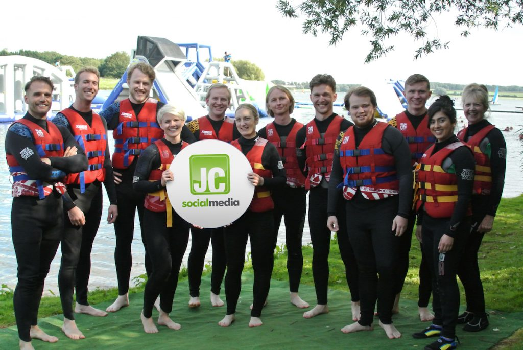 JC Social Media on a team day out as Aqua Park