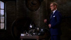 Startup entrepreneur Rob Hallmark pitching to the Dragons
