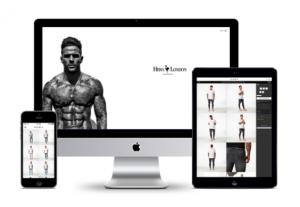 Hera London's e-commerce shop design. Perfect to begin marketing through social media.