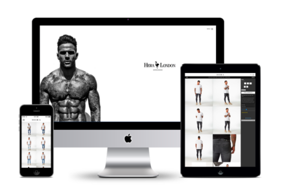 Hera London's e-commerce shop design. Perfect to begin marketing through social media.