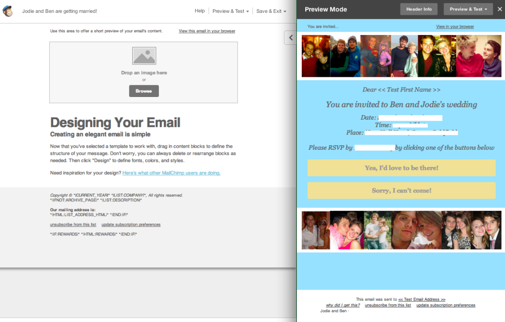 mailchimp create template from campaign - how to create wedding invitations using mailchimp jc