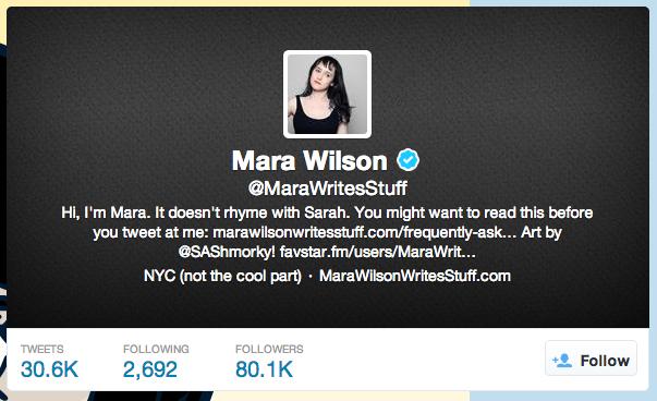 mara wilson on Twitter