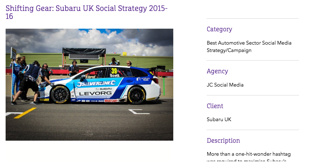 JC Social Media's nomination for the Drum's Social Media Buzz Award